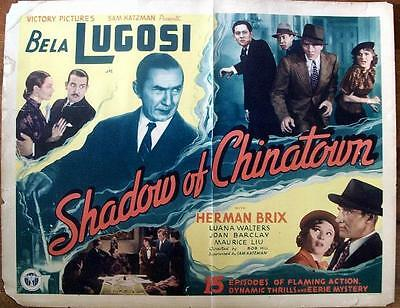 Universal Horror Star Bela Lugosi Orig Rare Shadow Of Chinatown Us Serial Hs