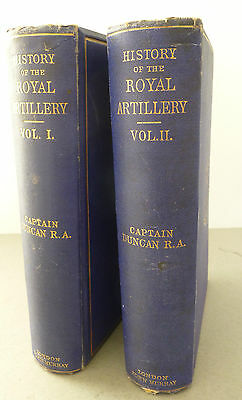 History of the Royal Artillery by Captain F Duncan - Ex Library of Napoleon III