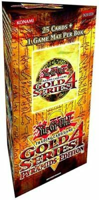 YuGiOh GOLD Series 4 Pyramid Edition Booster 25card Pack/Box + 1 Game Mat Sealed