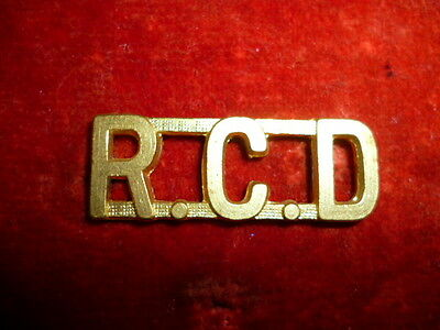The Royal Canadian Dragoons WW2 era Brass Shoulder Title