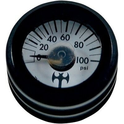 Mini Oil Pressure Gauge and Cover Thunder Cycle Designs Black TC-001B