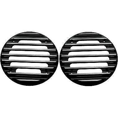 Rear Finned Speaker Grilles Covingtons Black C0022-B