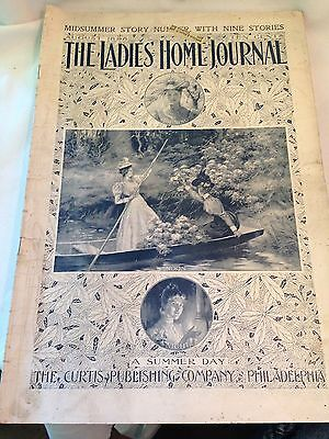 The Ladies Home Journal August 1898 Antique  Magazine