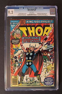 THOR ANNUAL #6 early GUARDIANS OF THE GALAXY 1977 Second app KORVAC CGC NM- 9.2