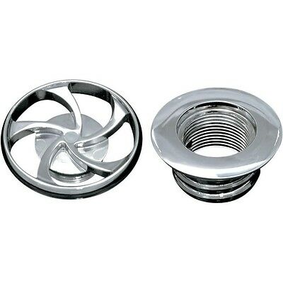 Vented Gas Cap with Bung (each)   Twisted Cap - Chrome Covingtons C1119-C-HR