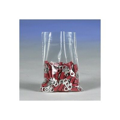 """""""Flat 3 Mil Poly Bags, 4"""""""" x 12"""""""", Clear, 1000/Case"""""""