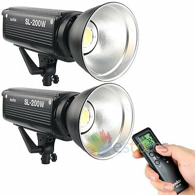 2Pcs Godox SL-200W 200W LED Light Studio Fr Wedding Children Kids Photography【UK