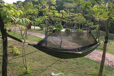 Outdoor Travel Camping Hammock Parachute Hanging Sleeping Bed & Mosquito Net