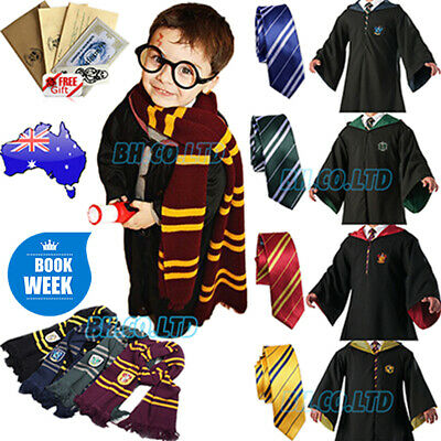 Book Week Gryffindor Harry Potter Robe Cape Hogwarts Halloween Costume Cosplay