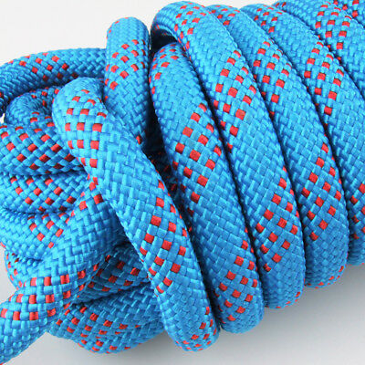 25KN 12mm Safety Rock Climbing Static Sling Rappelling Rope Rescue Gear Cord