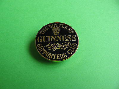 The Bottle Of Guinness Supporters Club Badge. VGC. Unused.