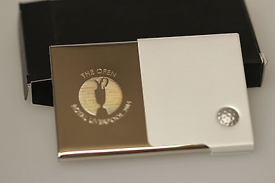 The Open Royal Liverpool 2014 Business Card Holder Claret Jug Polished Boxed New