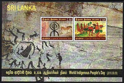 Sri Lanka Mnh 2010 World Indigenous Peoples Day Minisheet