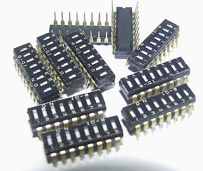 pack of 10 8 way DIP switch