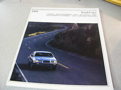 Amazing 1985 FORD Cars Brochure LTD Crown Victoria, Mustang, Escort,Tempo Etc.