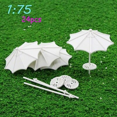 TYS03075 24pc DIY parasol Model Train Railway Vertical Common Gifts 1:75 OOScale