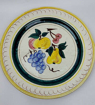 Stangle Terra Rose fruits 12.25-inch round platter or chop plate