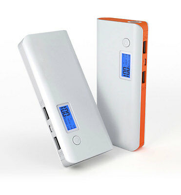 Durable 50000mAh LCD Battery Charger Dual USB LED Power Bank Pack For Cell Phone