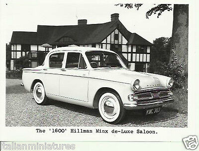 Hillman Minx 1600 De Luxe Saloon III c.1960 Original Rootes Press Photograph