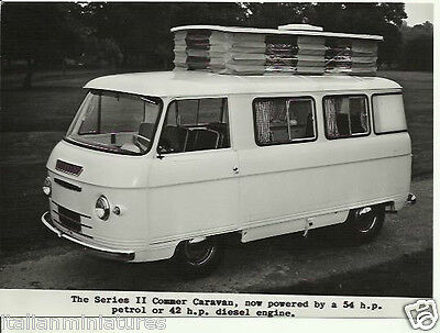 Commer Caravan Series II Motorhome Camper 1962 Original Rootes Press Photograph