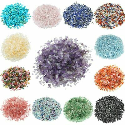 Natural Crystal Quartz Chips Crushed Tumbled Stones Healing Reiki Mini Rocks 1Lb