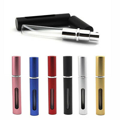 5ml Perfume Atomizer Metal Travel Storage Portable Mini Refillable Empty Bottle