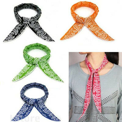 Hot 5 Colors Non-toxic Neck Cooler Scarf Body Ice Cool Cooling Wrap Tie Headband