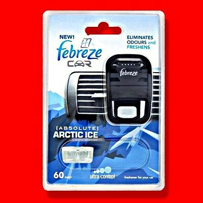 Febreze Car Vent Air Freshener Arctic Ice 60 Days Refillable Ambi Pur Compatible