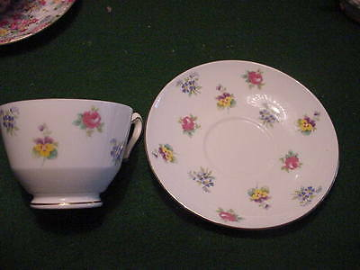 Crown Staffordshire Bone China Cup and Saucer, Made in England
