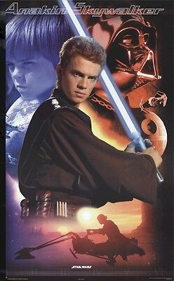 ATTACK OF THE CLONES MOVIE POSTER ~ ANAKIN COLLAGE 22x34 Star Wars Episode II 2