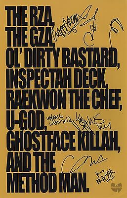 Wu-Tang Clan - Legendary Rap Group - Autographed 11x17 Photograph - Signed by 8