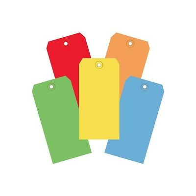 """""""Shipping Tags, 13 Pt., 4 3/4"""""""" x 2 3/8"""""""", Assorted Color, 1000/Case"""""""