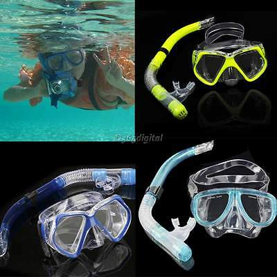 Dry Snorkel Set Diving Equipment Dive Mask Snorkeling Scuba Gear Goggles Beach