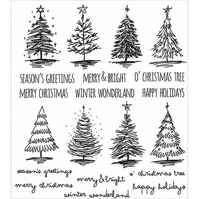 """""""Tim Holtz Cling Stamps 7""""""""X8.5""""""""-Scribbly Christmas"""""""