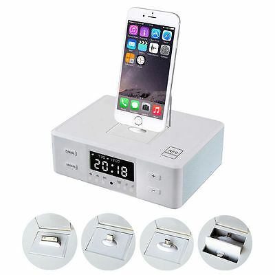 D9 Bluetooth Speaker FM Radio Alarm Clock Charge Dock Charging For iOS Android