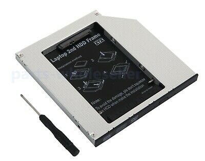 NEW 9.5mm 2nd HDD SSD CADDY SATA Hard Drive to IDE PATA Caddy Optical Drive Bay