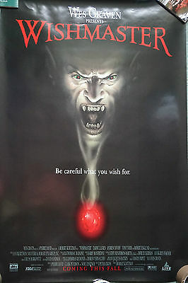 Wishmaster (Wes Craven) Adv US Single Sided Movie Poster 27 x 40 inches 1997