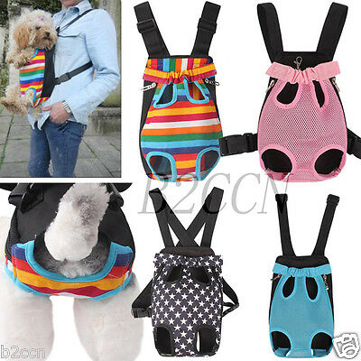 Fashion Nylon Dog Cat Pet Puppy Dog Carrier Backpack Front Tote Carrier Net Bag