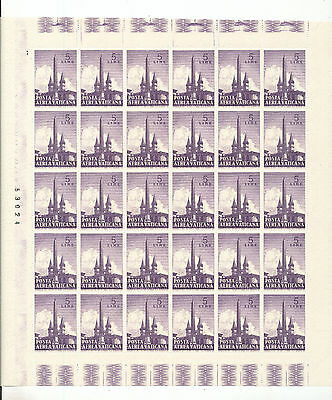 Vatican 1959 Air Set To 500L Sheets MNH (300 Stamps) LP27