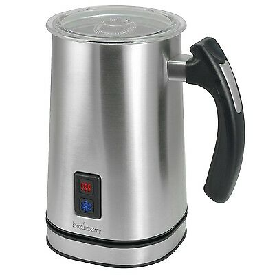 Brewberry Stainless Steel Premium Wireless Automatic Milk Frother and Heater ...