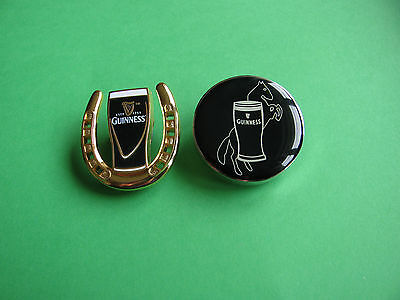 2, Guinness pin badges. VGC. Unused. Horse Theme.