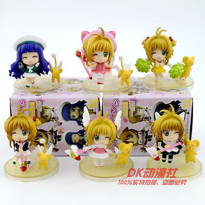 6PCS Japan Anime Card Captor Sakura Kinomoto Sakura PVC Figure Toy New in Box
