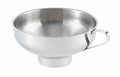 "Harold 5.5"" Stainless Steel Canning Preserving Wide Mouth Funnel w/ Handle 41194"