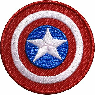 Official Marvel Comics Avengers Captain America Shield Civil War Iron on Patch