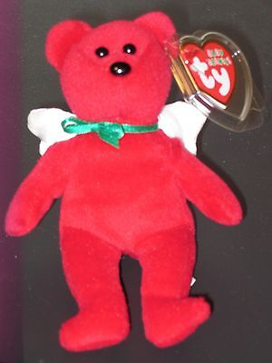 "Ty Jingle Beanie Baby ~ DIVINE the (5"") Holiday Angel Bear ~ MINT with MINT TAGS"