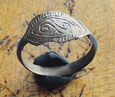 Ancient Rings lot - Viking Period Silver ring with drawing