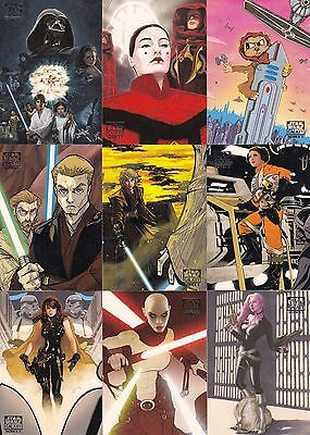 Star Wars Galaxy Series 5 2010 Topps Complete Base Card Set Of 120
