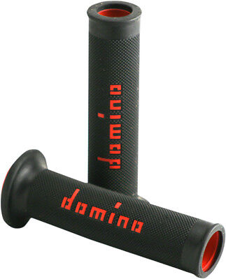 Domino Motorcycle Grips Moto GP Dual Compound  Black/Red A01041C4240