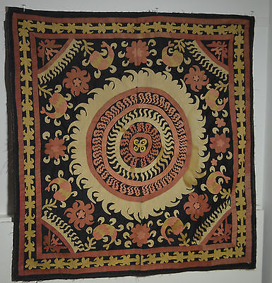 Spectacular Antique Hand Embroidered Uzbek Suzani Pp284