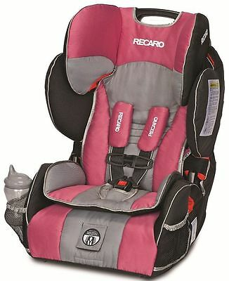 Recaro Performance Sport Combination Harness To Booster Child Car Seat Rose